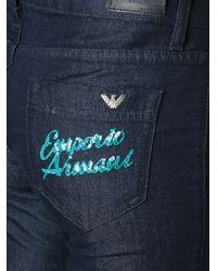 Armani Jeans - Blue Skinny Jeans - Lyst