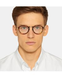 Persol - Brown Round-Frame Acetate And Metal Optical Glasses for Men - Lyst