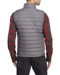 Weatherproof | Black Packable Down Zip Vest for Men | Lyst