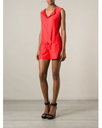 Courreges - Orange Sleeveless Playsuit - Lyst