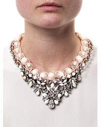 Shourouk | White Theresa Necklace | Lyst