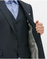 Zara | Blue Birdseye Suit Blazer for Men | Lyst