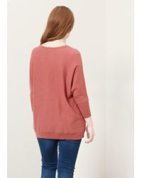 Violeta by Mango | Pink Ribbed Wool-blend Sweater | Lyst