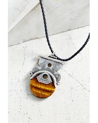 Urban Outfitters - Black Stones Of Cairo Pendant Necklace - Lyst