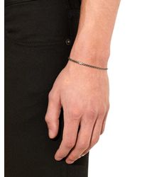 Saint Laurent - Metallic Cube-Chain Oxidised Bracelet for Men - Lyst