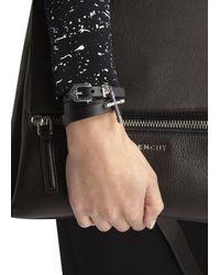 Givenchy | Black Cross Leather Bracelet | Lyst