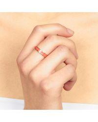 Astley Clarke - Orange Madder Rose Enamel Ring - Lyst