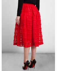Simone Rocha - Layered Checked Skirt - Lyst