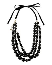 Twin Set - Black Necklace - Lyst