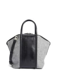 Alexander Wang | Mini Emile In Pebbled Black With Rose Gold | Lyst