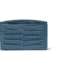 Smythson - Blue Crocodileembossed Card Holder for Men - Lyst