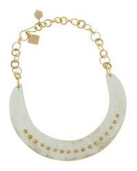 Ashley Pittman - Metallic Studded Collar Necklace - Lyst