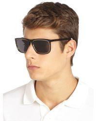 Saint Laurent - Brown Acetatemetal Square Sunglasses for Men - Lyst