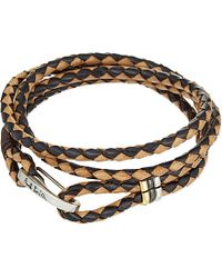 Paul Smith | Gray Leather Wrap Bracelet | Lyst