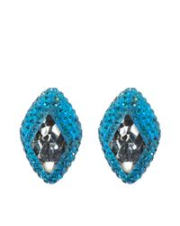 Atelier Swarovski | Blue St James Stud Earrings | Lyst