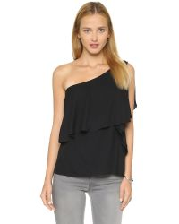Ella Moss | Black Stella One Shoulder Blouse | Lyst
