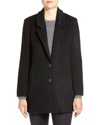 Capulet | Black Wool Blend Drivers Coat | Lyst