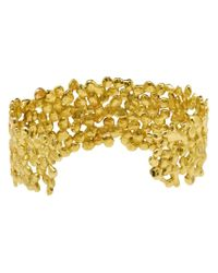 Natasha Collis - Metallic 18kt Dripped Gold Diamond Cuff - Lyst