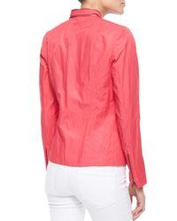 T Tahari - Pink Charity Zipper Jacket - Lyst