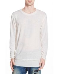 Alternative Apparel | White 'layover' Long Sleeve T-shirt for Men | Lyst