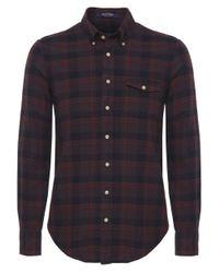 GANT   Brown Merrick Oxford Check Shirt for Men   Lyst