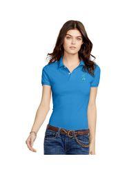 Polo Ralph Lauren - Blue Skinny-fit Big Pony Polo Shirt - Lyst
