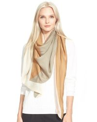 Tory Burch | Brown 'Mosaic' Print Wool Scarf | Lyst