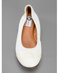 Lanvin - Natural Leather Ballet Flat - Lyst