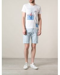 Zegna Sport - White Boat Print Tshirt for Men - Lyst