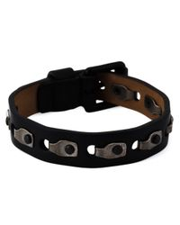 Lanvin | Black Rivet Detailing Bracelet for Men | Lyst