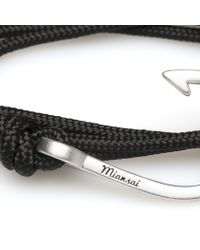 Miansai | Black Rope Silver Hook Bracelet for Men | Lyst