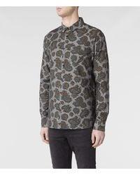 AllSaints | Black Hydrangea Short Sleeve Shirt for Men | Lyst