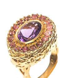 Jade Jagger - Yellow Amethyst, Ruby & Gold-Plated Ring - Lyst