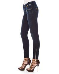 Michael Kors - Blue Michael Skinny Motorcycle Jeans - Lyst