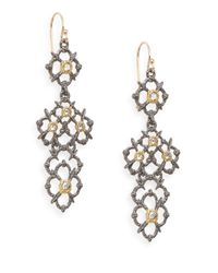 Alexis Bittar - Metallic Elements Muse D'ore Swarovski Crystal & Two-tone Woven Drop Earrings - Lyst