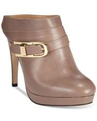 Calvin Klein | Brown Pearle Platform Mules | Lyst