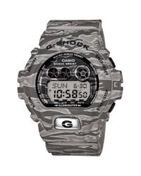 G-Shock | Gray Xl Camouflage Pattern Digital Watch for Men | Lyst
