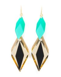 Silvia Rossi | Green 'ace' Earrings | Lyst
