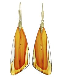 Annette Ferdinandsen | Orange Agate Moth Wing Earring | Lyst