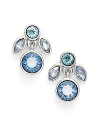Givenchy - Blue Crystal Drop Earrings - Lyst