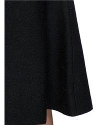 Theory - Black 'marvita B' Stretch Wool Blend Midi Skirt - Lyst