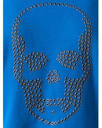 Lucien Pellat Finet - Blue Skull Graphic Sweatshirt for Men - Lyst