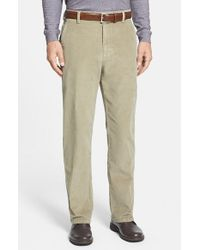 Cutter & Buck | Natural 'walker' Flat Front Straight Leg Corduroy Pants for Men | Lyst