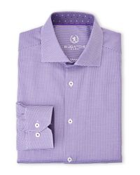 Bugatchi - Purple Dress Shirt for Men - Lyst