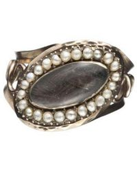 Alexis Bittar | Metallic 1880S Victorian Mourning Ring With Pearls | Lyst
