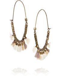 Isabel Marant - White Goldtone Tassel Earrings - Lyst