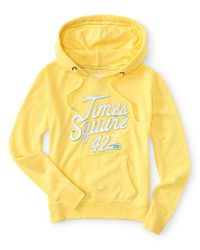 Aéropostale | Yellow Times Square 42Nd Street Popover Hoodie | Lyst