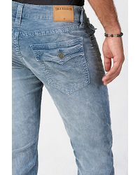 True Religion | Blue Ricky Acid Wash Corduroy Mens Pant for Men | Lyst