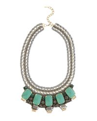 Karen Millen - Green Statement Necklace - Lyst