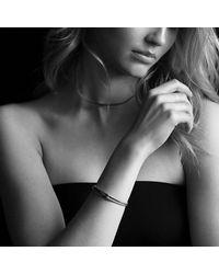 David Yurman - Metallic Petite Pavé Labyrinth Loop Bracelet With Diamonds - Lyst